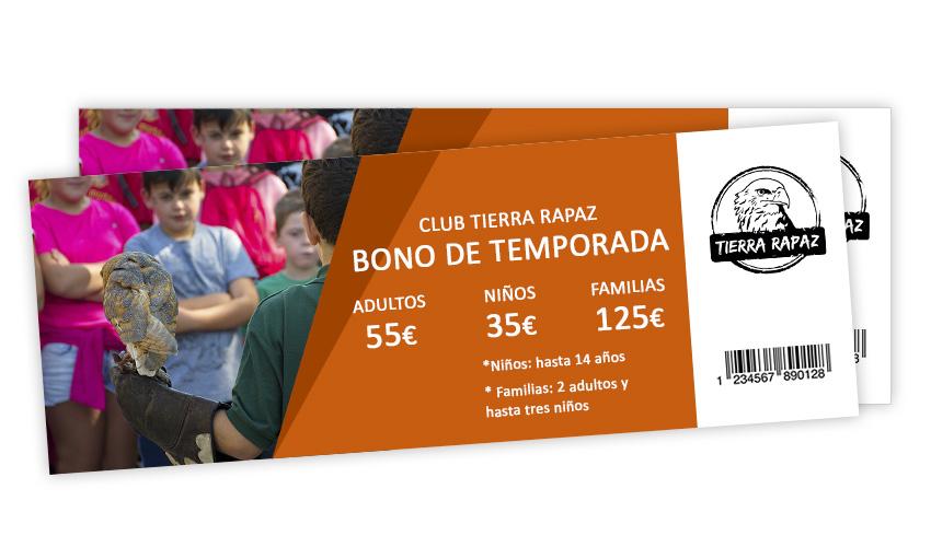 Entrada Tierra Rapaz Bono
