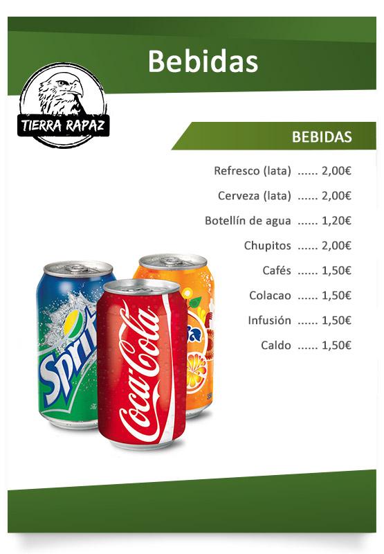 Carta bebidas Tierra Rapaz